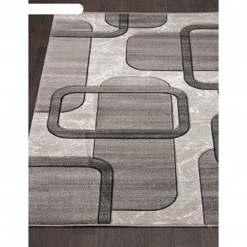 Прямоугольный ковёр mega carving d465, 250x350 см, цвет light gray