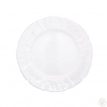 Набор тарелок bernadotte платиновый узор 25 см(6 шт)