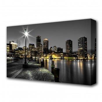 Картина на холсте фонарь 60*100 см