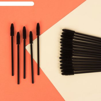 Набор щёточек для ресниц «объём», 20 шт, цвет чёрный
