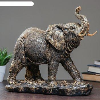 Фигура слон бронза 43х17х36см