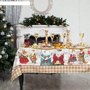 Скатерть  этель winter holidays150х220 см, хлопок 100%