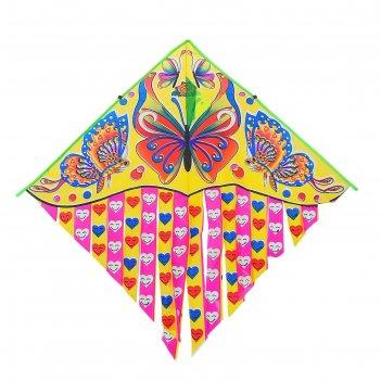 Воздушный змей бабочки с леской