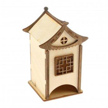 Чайный домик китайский домик, 10x10x17,5 см