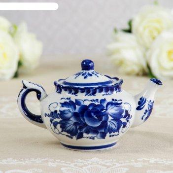Чайник «утро», 16x16x9 см, гжель