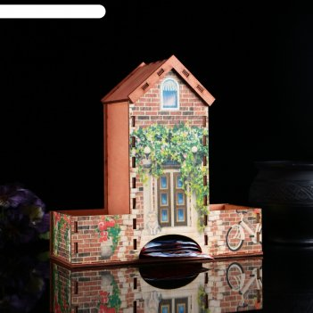 Чайный домик кирпичный домик, 20х20х8 см