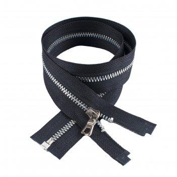 Молния для одежды, разъёмная, №3тт, 55 см, цвет чёрный