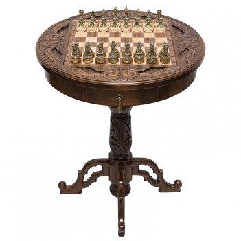 Стол ломберный шахматный круг света, haleyan