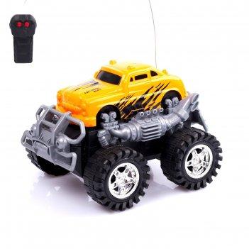Машина радиоуправляемая ретро джип, работает от батареек, микс