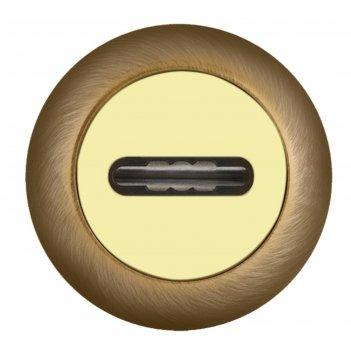 Накладка fuaro sc rm ab/gp-7, под сувальдный ключ, цвет бронза/золото, 1 ш