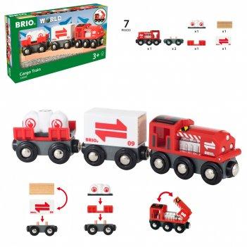 Brio грузовой поезд, размер в собранном виде 21,9х3,4х5,1 см., размер кажд