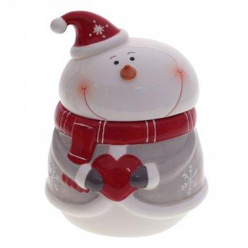 Конфетница веселый снеговик, l15 w14,5 h22 см
