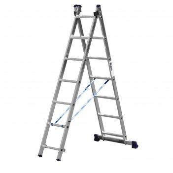 Лестница сибин 38823-07, двухсекционная, 7 ступеней