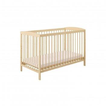 Кроватка детская polini kids simple 101, цвет натуральный