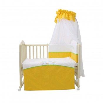 Комплект в кроватку «волшебная полянка», 7 предметов