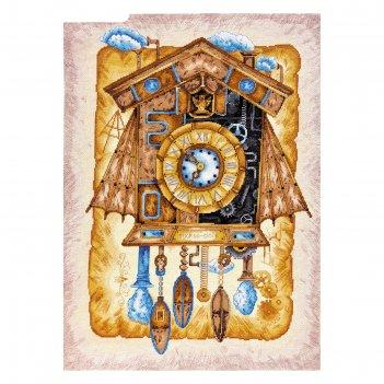 Набор для вышивки крестом часы с кукушкой