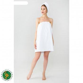 Набор для сауны этель парео (68х150 см) и чалма, цвет белый