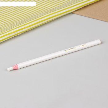 Карандаш для ткани самозатачивающийся, 18 см, цвет белый