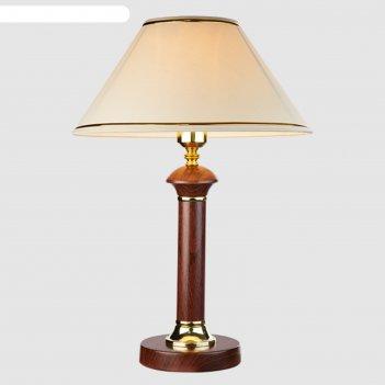 Настольная лампа lorenzo 1x60вт е27 тёмное дерево 34x34x40см