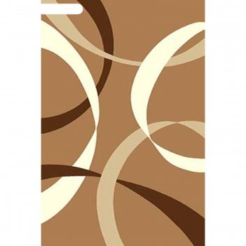 Ковёр карвинг фризе vision deluxe v801, 0,8*1,5 м, прямоугольный, mustard