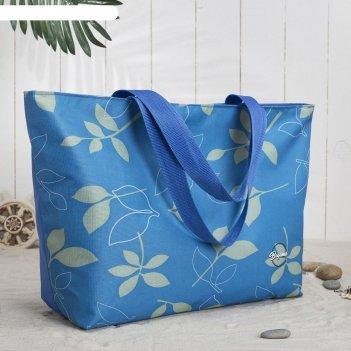 Сумка пляжная bagamas, отдел на молнии, цвет синий