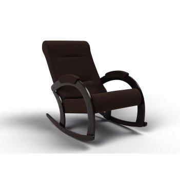 Кресло-качалка «венето», 1112 x 630 x 880 мм, ткань, цвет шоколад