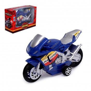 Мотоцикл инерционный «спортбайк», цвет микс