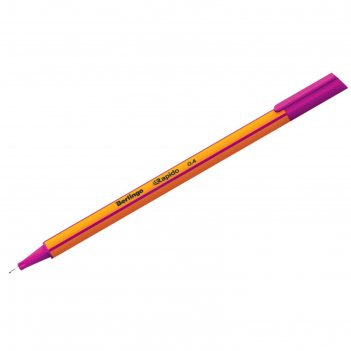 Ручка капиллярная berlingo rapido, 0,4 мм, трёхгранная, стержень сиреневый