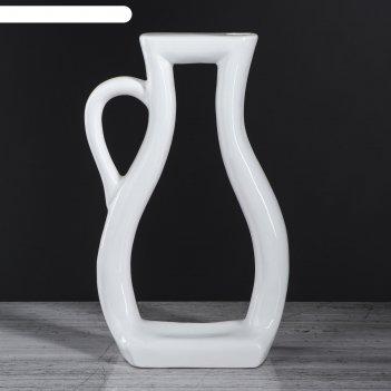 Ваза арт-хаус кувшин, белый цвет, 32 см