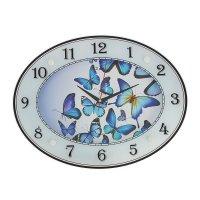 Часы настенные овальные бабочки, 46х35 см