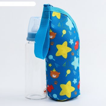Термосумка для бутылочки мишка принц на молнии