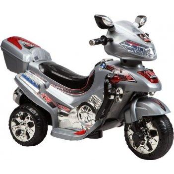 Мотоцикл эл., серебр, свет, mp3, аккум 6v/4.5ah,12w