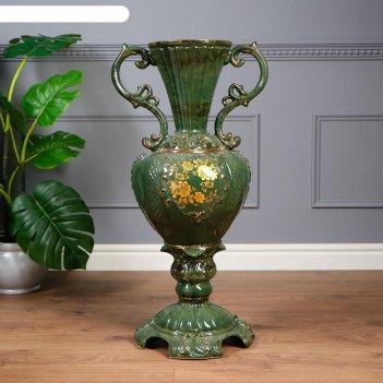 Ваза напольная форма валенсия малахит зеленый