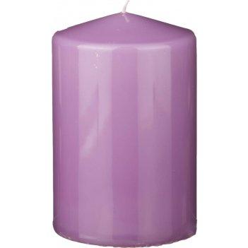 Свеча высота=15 см.диаметр=10 см.лиловая