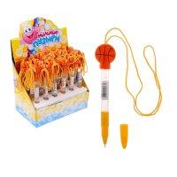 Мыльные пузыри - ручка баскетбол со светом и шнурком