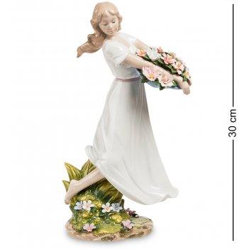 Jp-29/29 статуэтка девушка с цветами (pavone)