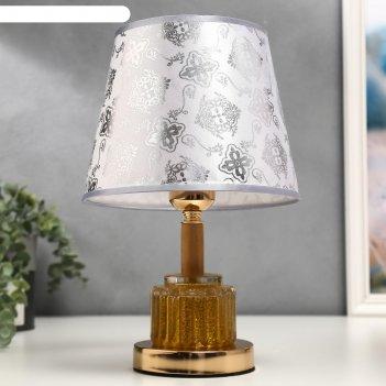 Лампа настольная 16131/1gd e27 40вт+led подсветка золото 21х21х32 см