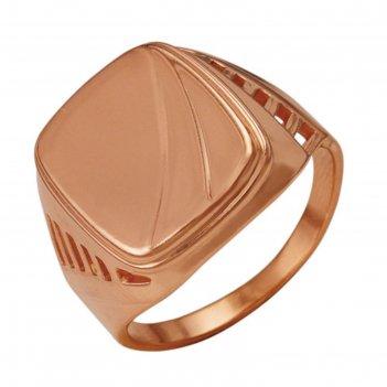 Кольцо перстень мужской, позолота (2301165цр), 20 р-р