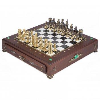 Шахматный ларец фигуры камелот 420х420х90 мм 17 кг