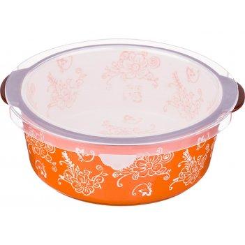 Блюдо для запекания с пластиковой крышкой 20*19 см. высота=7 см. (кор=16шт