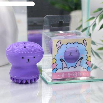Массажер для лица лама, фиолетовый, 6 х 5,5 х5,5 см