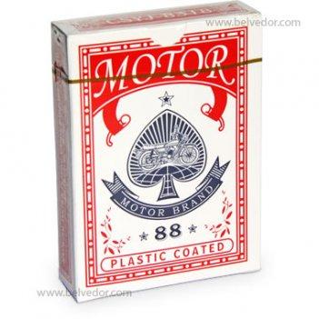 Игральные карты для покера бумажные с пластиковой рубашкой motor