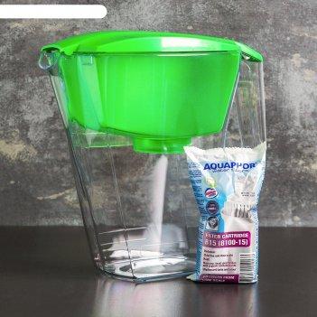 Фильтр для воды 2,8 л аквафор лайн, цвет зеленый