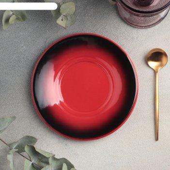 Блюдце универсальное 15 см, h 2 см rosa rossa