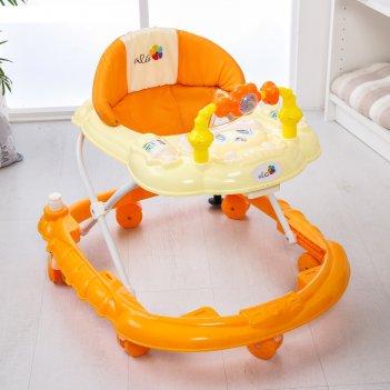 Ходунки весёлые друзья, 6 больш. колес, муз. игрушки (упак.6 шт.) (alis) ,