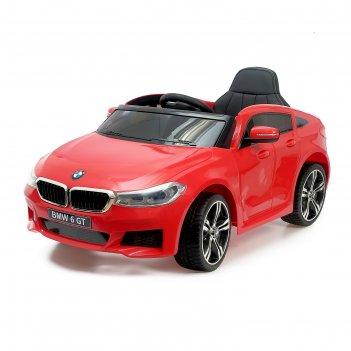 Электромобиль bmw 6 series gt, окраска красный, eva колеса, кожаное сидени