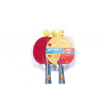 Набор startline 200 (2 ракетки, 3 мяча, блистерная упаковка)