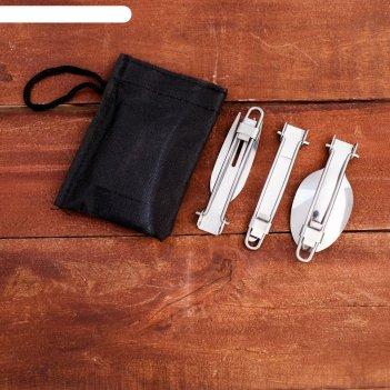 Набор туриста 3в1 в чехле: нож, вилка, ложка