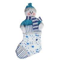 Носок для подарка снеговик звездочёт