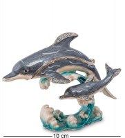 Шкатулка два дельфина
